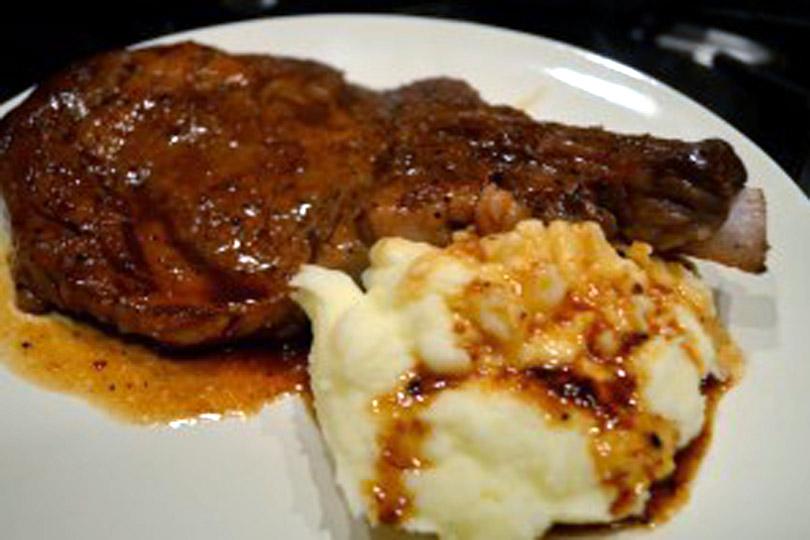 Ribeye Steaks In Cabernet Sauce With Truffle Sea Salt