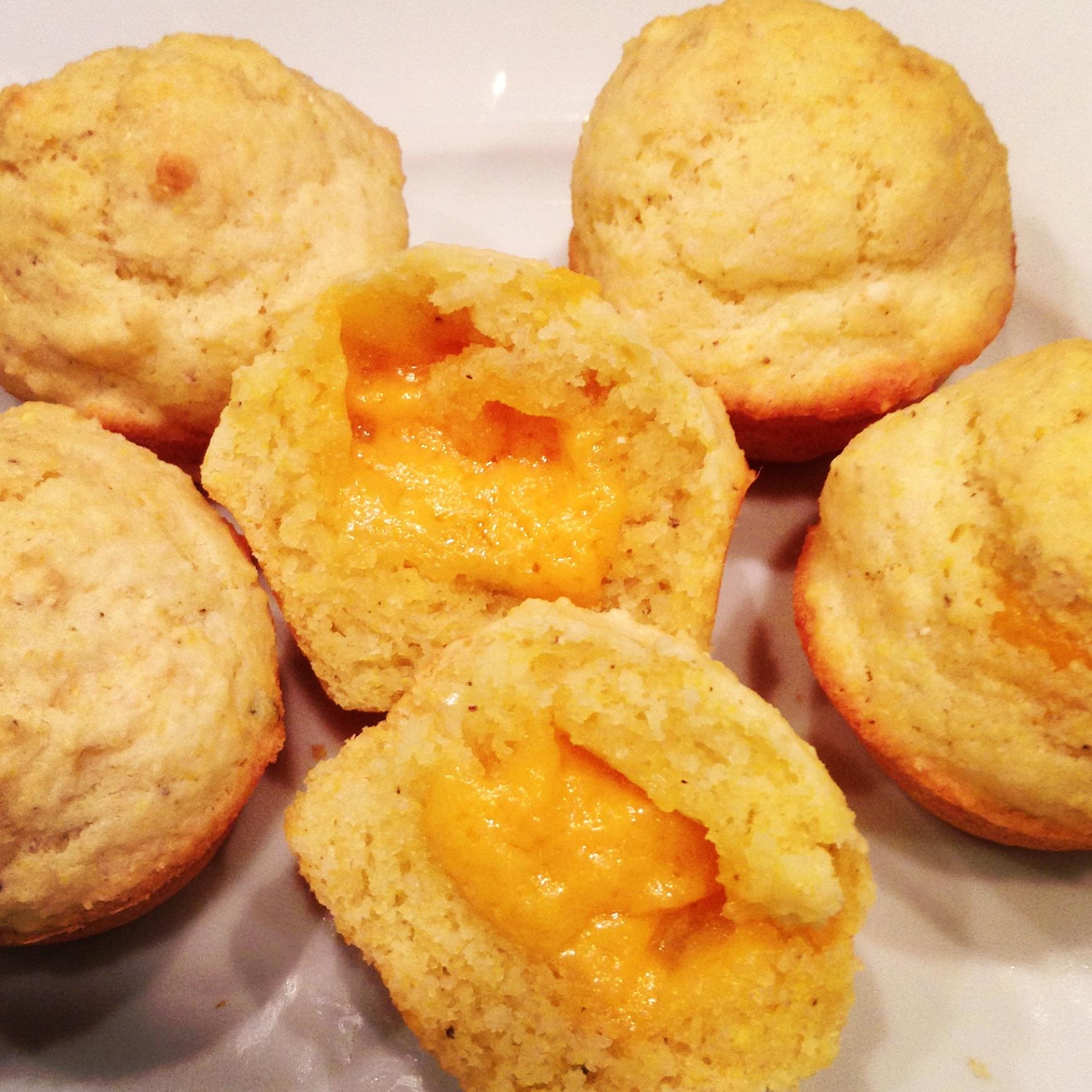 Gluten-Free Cheddar-Stuffed Mini Corn Muffins