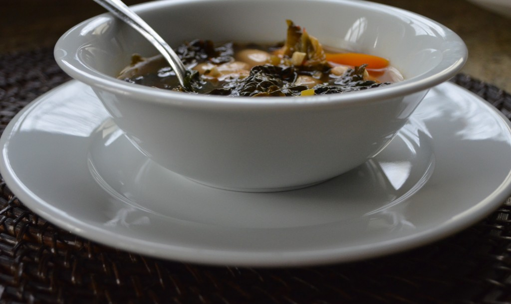 Kimchi and Kale Soup via @JackieOurman