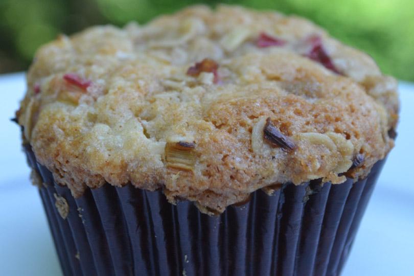 Rhubarb Muffins Recipe — Dishmaps