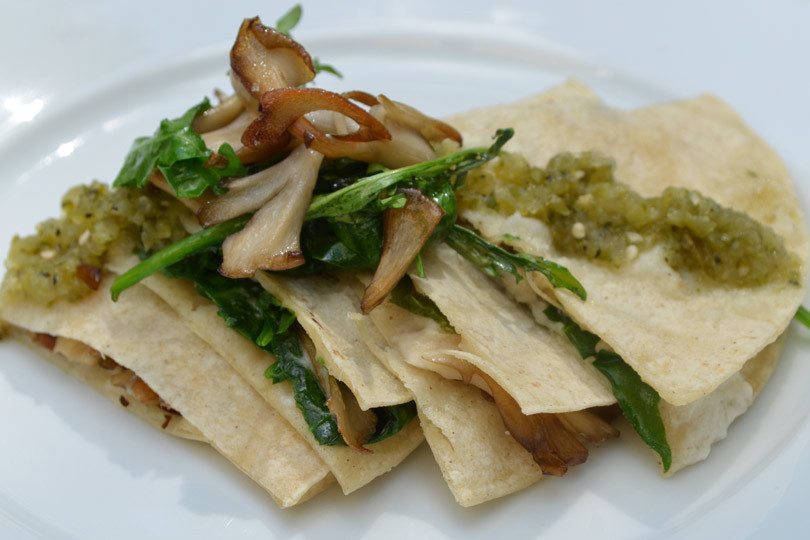 spinach-arugula-quesadilla