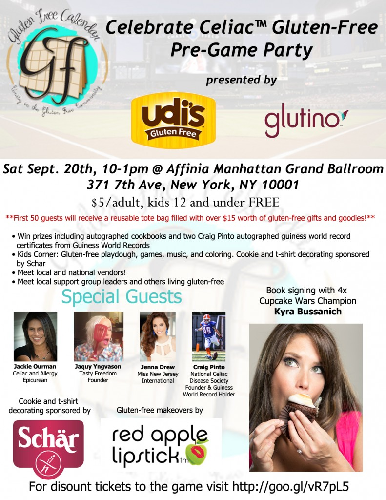 NYC Gluten-Free Calendar Event