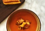 Gluten-Free Tomato Soup with Grilled Cheese