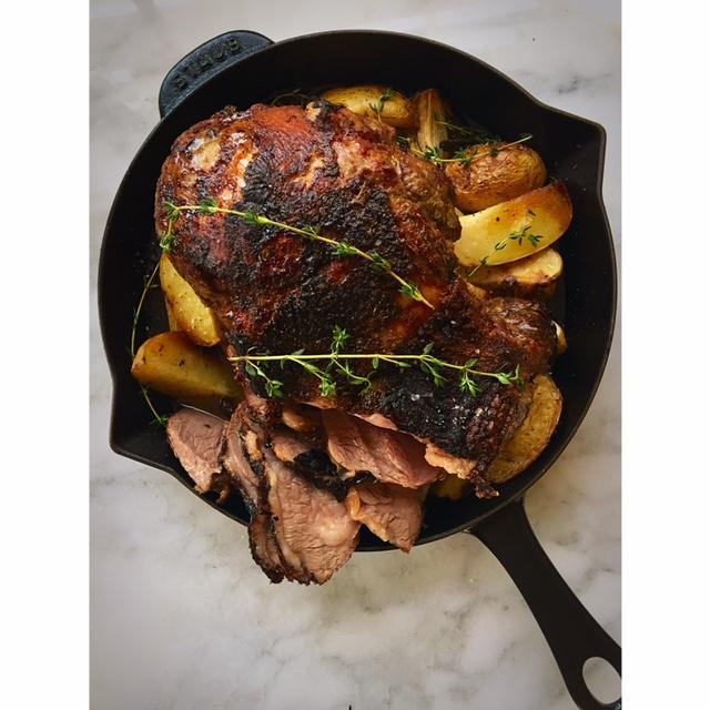 Gluten-free Leg of Lamb Dinner